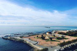 Along the Lungomare in Livorno